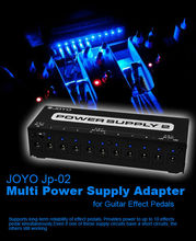 JOYO JP-02 Guitar Effect Pedal Power Supply 2 Guitar Device with 10 Isolated Outputs & 3 Power Options