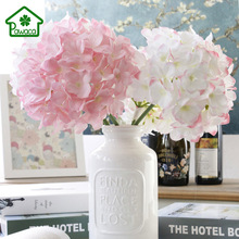 1Pcs Dia 20cm Luxury Decorative Artificial Hydrangea Flower No Leaf Fake Silk Hydrangea Floral Home Garden Wedding Decoration
