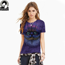 Buy Summer Star Tiger/Space Skull/Cat 3D printing T Shirt Women Brand Clothes Casual Tops Tees Blusa Harajuku Female O Neck T-shirt for $8.90 in AliExpress store