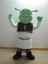 Shrek Mascot Head Costume school mascots cartoon character costumes movie costumes for kids party free shipping