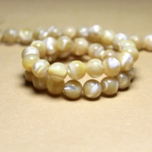 Natural Round Trochus niloticus Top Shell Stone Beige Beads For Jewelry Making DIY Bracelet Necklace 4/6/8/10 mm Strand 15''(China)