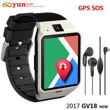2017 New GV18 Aplus Smartwatch Bluetooth Smart Watch For Android IOS Phone Support GPS SOS SIM TF Card SMS GPRS NFC PK DZ09 GT08