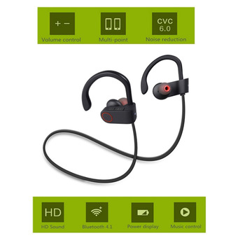 U8 Wireless Bluetooth 4.1 Sport Earphone Handfree Bluetooth Headset Earphones with Mic Sports Ear-hook Music Stereo Earphone O3