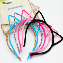 MOONBIFFY Headbands for Women Colorful Headwear Hair Accessories Hello Kitty Ear Hair Band(China)