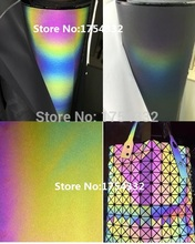 135cm*1M Night Iridescence Reflective Leather Fabric Personality Bags Garment Shoes material