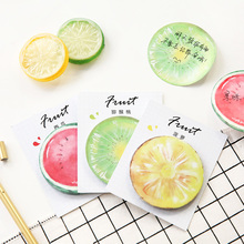6 pcs/Lot Super delicious fruit sticky note 30 sheets memo pad Apple orange post it Office accessories School supplies 6582