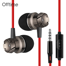 Offtime EN3 Earphones subwoofer headset high quality high quality HiFi headhones 3.5mm noise cancelling Super bass headsets(China)