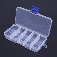 Waterproof 10 Compartments Outdoor Fishing Lure Hook Storage Box Case Portable Non-Toxic Transparent Plastic Fishing Tackle Box