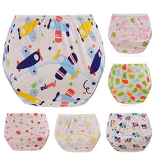 3pcs Anyongzu Labs Pants New Cotton Learning Pants Baby Training Waterproof Cloth cartoon girl boy(China)