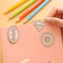 New Cute Stationery Metal Bookmark Lovely Originality Bookmark Super Hero Alliance Cartoon Movie Characters Kids Gift(China)