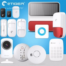 Etiger WiFi /GSM /GPRS eTiger WiFi Newest Intruder Burglar gsm sms alarm systems security home wireless strobe siren