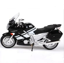 1/18 Yamaha Diecast Motorcycle Model black White Diecast Motorbike For 2006 FJR 1300 W Removable Base toy Kids brinquedo