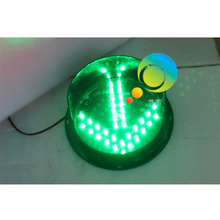 Factory direct price mini 200mm green color LED arrow signal traffic light parts