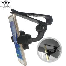 Universal Car Mobile Phone holder Auto Clip 360 Rotation Car Sun Visor Clip Holder Mount Stand For iPhone Samsung Huawei HTC GPS