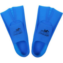 Bo Road fin swimming diving short fins snorkeling portable equipment flipper frog shoes blue XL (42-44 code)