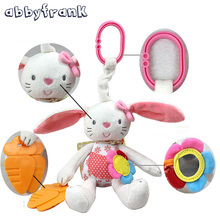 Buy Abbyfrank Rabbit Baby Rattle Crib Gutta-percha Pram Toys Soft Bunny Plush Doll Hanging Stroller Infant Baby Toys 0-12 Months for $6.29 in AliExpress store