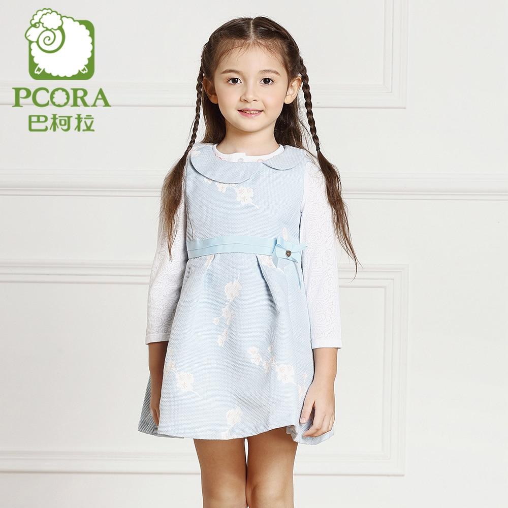 PCORA Fancy Dresses for Girls Children Evening Dresses Sleeveless Party Dress Spring/Autumn Children Clothes Girl for 4T~14T<br>