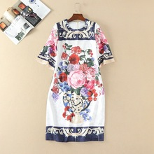 Best Buy New Fashion Women Apr13 Spring Summer Dress Europe Style Design Vintage ladies party style dress Women's 20P