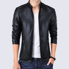 Men Leather Jacket Slim Fit Male Faux Leather Jackets Business Coat Large Size M-5XL jaqueta de couro Masculina High Quality