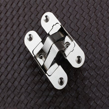 95x23mm Three dimensional adjustable  Invisible Concealed Folding Door Hinges for Solid wood door 2pcs