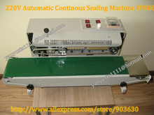 wholesale  220V Continuous Plastic Bag Film Heat  Band Sealing Machine FR-900,Steel Wheel Printing ,Sealing Width:6-12MM