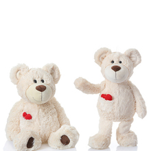 2017 New Arrival 20CM Heart Teddy Bear Plush Toy Soft Stuffed Appease Dolls Children Favorite Birthday Christmas Gifts Wholesale