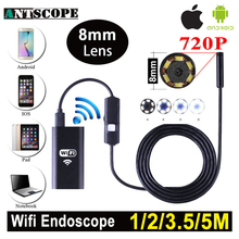 Antscope 1m 2m 5m Wifi Endoscope Camera Android 720P Iphone Borescope Waterproof Camera Endoscopic Android iOS Boroscope Camera(China)