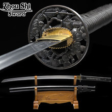 Handmade Japanese Samurai Sword Katana 1060 Carbon Steel Full Tang Blade Sharp-Custom Real Katana Swords Battle Ready