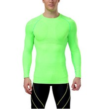 Men Underwear Tight Long Sleeve T-Shirts Gear Top Compression Base Layer Tops