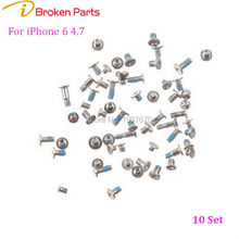 "Full Screw Set Silver/White Bottom Pentalobe Screws for Replacement for iPhone 6 4.7"" Repair Parts(China)"