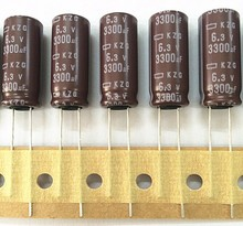 10pcs 3300uF 6.3V Nippon Chemi-Con NCC KZG Series 10x25mm Super Low ESR 6.3V3300uF Aluminum Electrolytic Capacitors