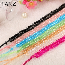 Bling Crystal Phone Strap Tags Lanyard Neck for ID Pass Card Phones Camera MP3 MP4 Universal For iphone Samsung Straps