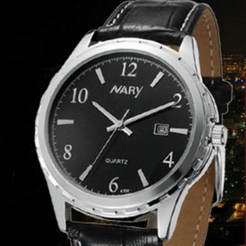 New business casual fashion watch male and female students temperament retro couple table calendar display<br>