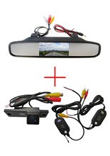 Wireless Color CCD Chip Car Rear View Camera for Toyota 4Runner / Land Cruiser Prado 2010 + 4.3 Inch rearview Mirror Monitor