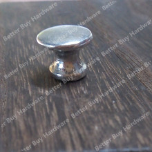 10pcs/lot Dia. 12mm Round Small Silver Single Knob Mushroom Shape Pulls for furniture drawer and box(China)