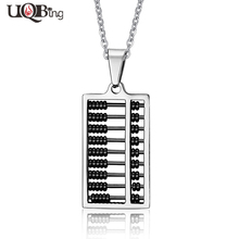 Original Creation Design Stainless Steel Abacus Pendants Men Necklaces Jewelry Wholesale 2016 New