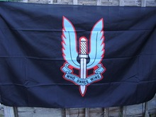 SPECIAL AIR SERVICE -SAS Famous Winged Dagger Beret Badge On Black High Quality Flag 3x5FT Custom flag Drop Shipping(China)