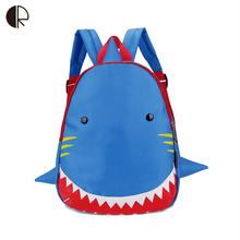 Kids Snack Backpack Animal Lunch Bag for 1-3 Years Boys and Girls Toddler Shark Bag Kindergarten Children Backpack Cartoon Bag