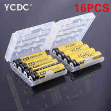 16Pcs/lot YCDC AA Rechargeable Battery AA NiMH 1.2V 2000mAh Ni-MH 2A Pre-charged Bateria Rechargeable Batteries for Camera
