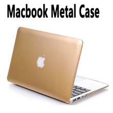 Golden Metal Hard Case for apple Macbook Air 11 12 13 Pro 13 15 Retina Original Ultra Thin Laptop Bag Protective Cover Shell