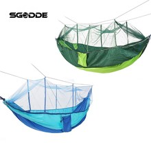 SGODDE Portable Outdoor Travel Camping Tent Folding Nylon Hammock Bed Mosquito Net Nylon 210T Fabric For Travel Kits Camping
