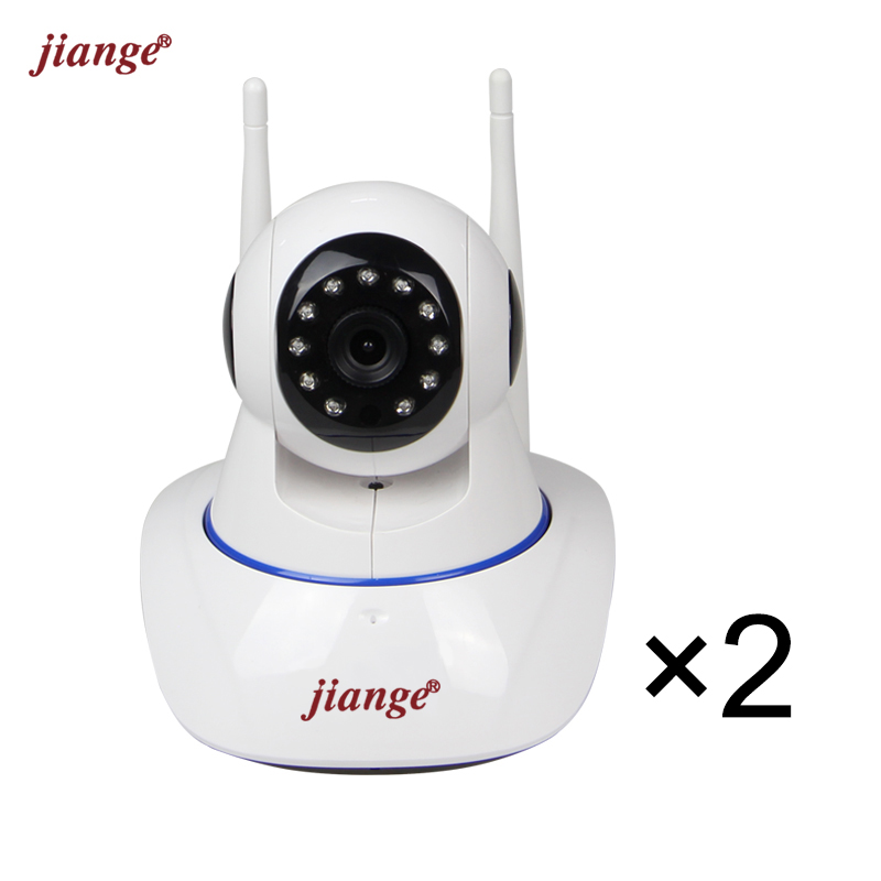 jiange 720P Wireless Cloud Storage IP Camera 2 Items Included in 1 parcel Suit For Baby Monitor Two Way Audio Easy to Set Up<br>