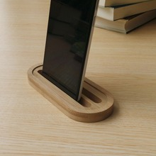 Bamboo Desktop Mobile Phone Charging Stand Portable Cell Phone Docking Station Desk Holder for iPhone(China)