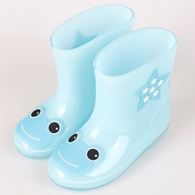 VONKONMYGO Children Shoes  Kids Boots Solid Color Jelly Shoes  Short Water Shoes Matte Rubber Fran Boots