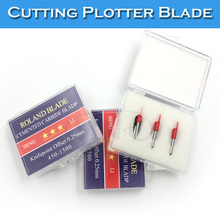 10 Pcs 45 Degree Roland Graphic Vinyl Cutter Plotter Computer Cutting Plotter Blade(China)