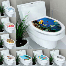 3D DIY Toilet Seats Wall Stickers Bathroom Decoration Decal Vinyl Mural Home Decor