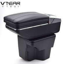 Vtear For KIA K2 RIO armrest box central Store content box with cup holder products interior car-styling accessory 2011-2016