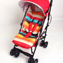 Fashion Rainbow Color Baby Stroller Cotton Cushion Pad Baby Soft Thick Pram Cushion Chair Stroller Baby Car Seat Soft Cushion