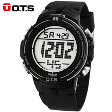 2017 New OTS Luxury Brand Mens Sports Watches Digital LED Military Watch Men Fashion Casual Electronics Wristwatches Hot Clock(China)