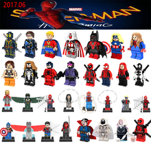 June Newest Super Heroes Whiplash Venom Azrael Deadpool Wolverine legoings Spiderman Avengers Building Blocks Bricks DIY Toys